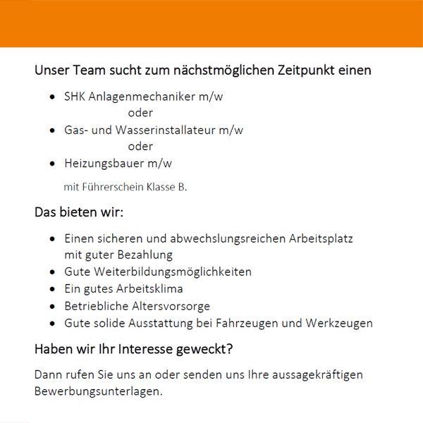 Karriere Korfhage Gmbh Oldenburg Haustechnik Sanitär Heizung